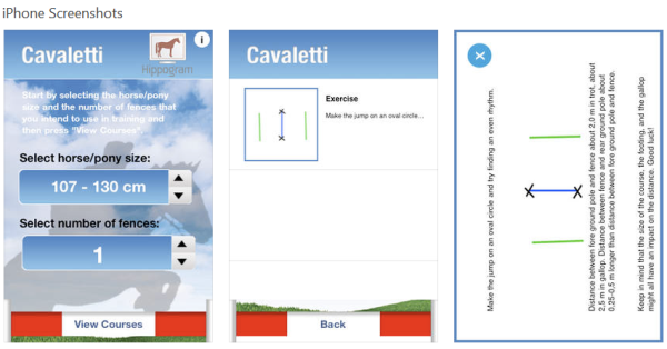 Cavaletti Lite smartphone app for horse owners - www.heavenlygaitsequinemassage.com