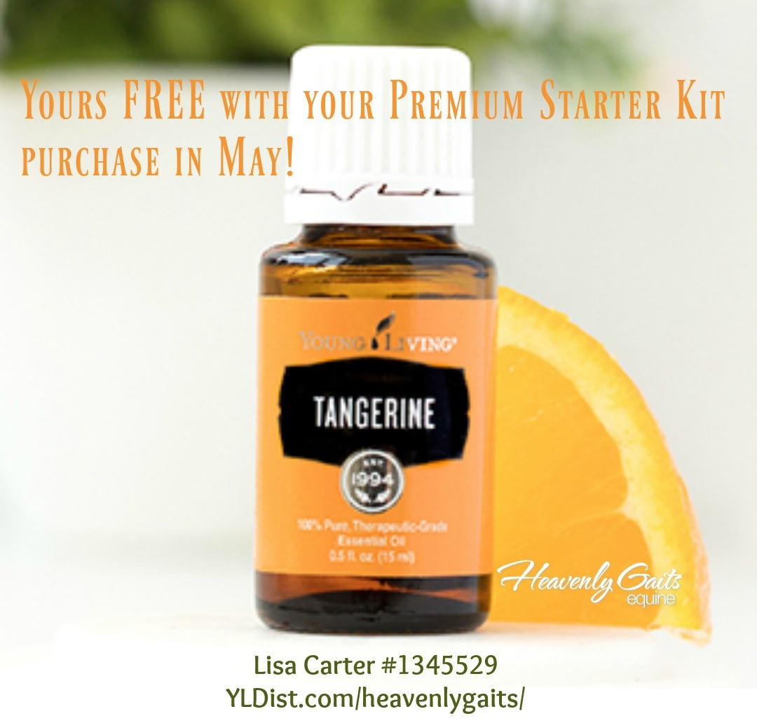 Get a free bottle of Tangerine when you order the Premium Starter Kit with Young Living before May 31, 2017