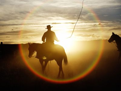 The Cowboy Blessing - cowboy rides at sunset - www.heavenlygaitsequinemassage.com