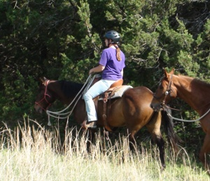 Lisa Carter and Tex on their first trail ride in the fall of 2011